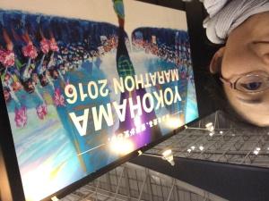 金曜日にゼッケンを取りに行ったEXPO会場にて。テンションが上がってきます!!