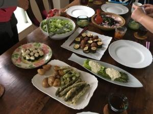 本日のお料理。どれも坂本さんのアイディアが光ります