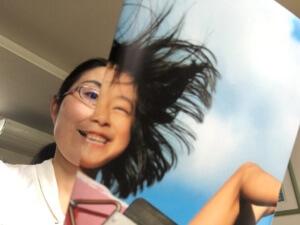 高橋師範から「本日のMVP」と言われた私のモンタージュ。ブランコを漕ぐお嬢さんと共演です