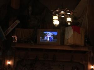 モニターにドナルドとダンサーさんが登場し、手旗信号のレクチャーをしてくれます