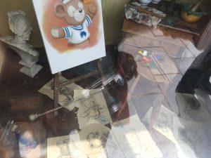 ジェラトーニのデッサン中の絵が飾られているところも。いいねいいね〜