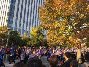 お台場はすでに木々が色づいていました。東京もそんな季節なんだよね